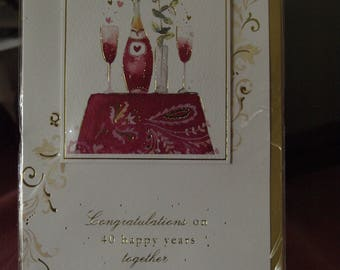 On Your Ruby Wedding Anniversary Card