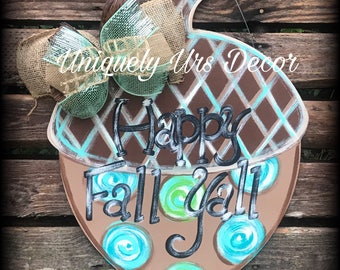 Acorn Door Hanger, Fall Door Hanger, Happy Fall Yall, Door Hanger, Fall Decor