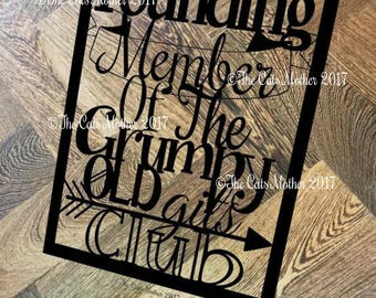 Founding Member Grumpy Git Club - Paper Cutting Template. Personal And Commercial Use PDF