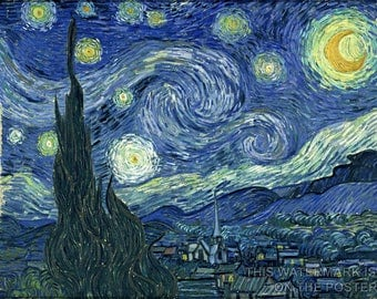 Poster, Many Sizes Available; Starry Night Vincent Van Gogh, The Starry Night