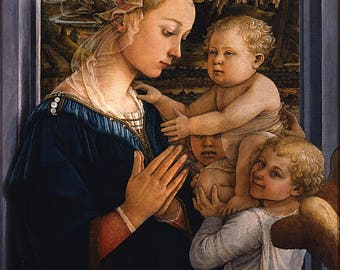 Poster, Many Sizes Available; Madonna And Child With Two Angels By Fra Filippo Lippi