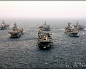 Poster, Many Sizes Available; Amphibious Assault Ships Of Commander, Task Force Fifty One (Ctf-51) - Copy