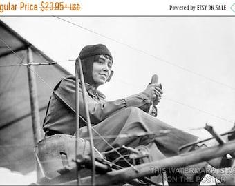 20% Off Sale - Poster, Many Sizes Available; Hélène Dutrieu C1911 Aviator