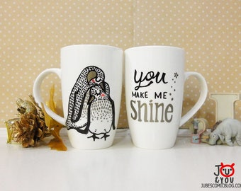 Custom Drawing with Caption, Hand drawn mug