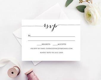 wedding response card templates