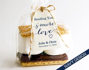Sending You S'MORE Love Tag Template, Wedding Favor Tag Template, DIY Editable, Printable Custom Favor Tags, Gift Tags, Wedding Tags