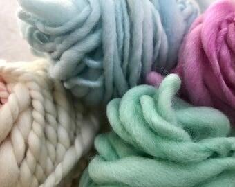 Yarn pack 8 - 48g hand dyed, hand spun yarn tasters