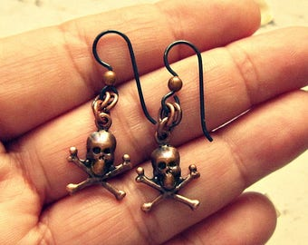 Skull And Crossbones Earrings, Skull And Crossbones Jewelry, Pirate Earrings, Pirate Jewelry, Pirate Accessories, Salvina's Treasures