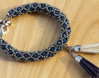 dark blue crystal bracelet,