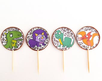 Baby Dinosaurs Cupcake Toppers