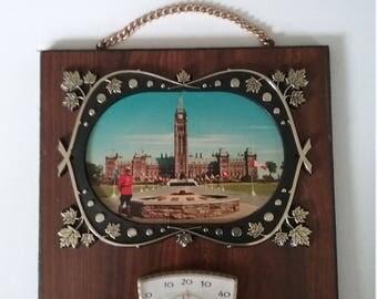 Ottawa Canada Souvenir, Mid Century Thermometer, Made In Canada