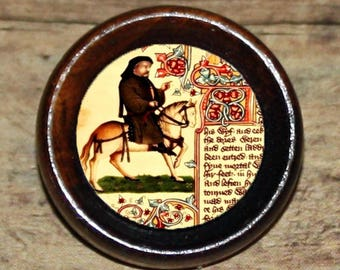 Geoffrey Chaucer CANTERBURY TALES Pendant or Brooch or Ring or Earrings or Tie Tack or Cuff Links
