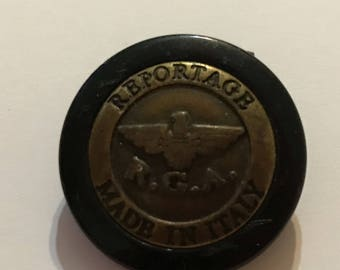 "Vintage Reportage R.G.A. Made in Italy 1"" Button"
