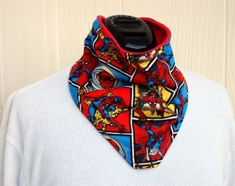 Big Kid Bandana, Spider-Man, Drool Bib, Dribble Bib, Special Needs, Bibs for Boys, Girls Bib,Marvel Comics, Superhero, Childrens Bib, Autism