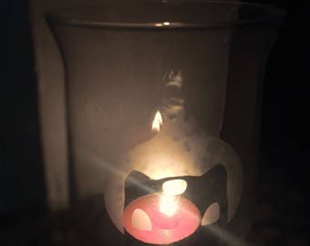 Pokemon Etched Candle holder