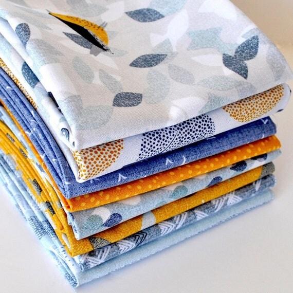 Birdsong Fat Quarter Bundle - Dashwood Studios, Quilting Fabric ... : pre cut quilt fabric - Adamdwight.com