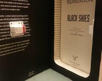 "Hollow Book Safe with Magnetic Lock ~ ""Black Skies"" by Arnaldur Indridason"