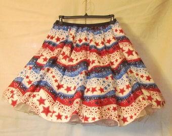 Banner wave - square dance skirt