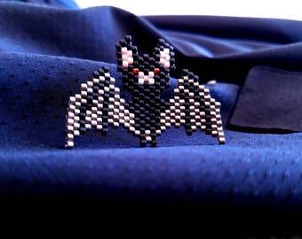 Beaded Bat Pin
