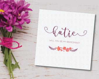 Will You Be My Bridesmaid greeting card - wedding/best friends