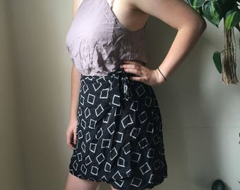 Vintage geometric wrap skirt