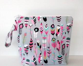 Large Wet Bag, swim bag, nappy bag, diaper bag, waterproof bag, travel bag - Featherst