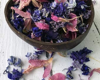 Natural Flower Petal Confetti / Biodegradable / Petal Blend B