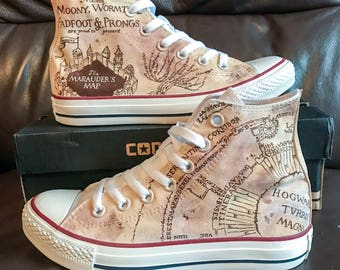 CUSTOM customised Hand painted shoes vans sneakers converse toms painted to order