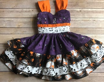 Nightmare Before Christmas Party Dress, Halloween Dress, Jack Skellington Party Dress