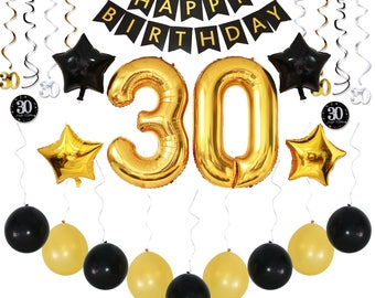 30th birthday decor etsy for 30th birthday party decoration packs