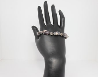 Genuine Pink Botswana Agate Bracelet & Earrings