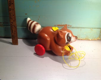 Vintage Fisher Price 1979 racoon