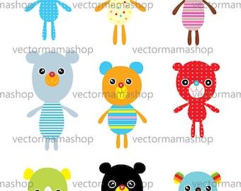 Digital Dowload Editable Teddy Bear Vector