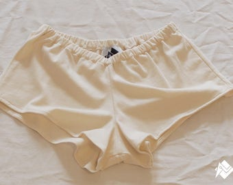 Reb shorts ' she runs Screenprinted women organic cotton