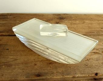 Vintage rocker ink blotter / Desk Accessory office Supplies / Paperweight