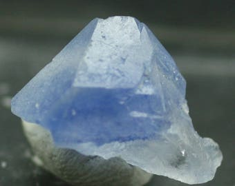 Quartz crystal included with rare Dumortierite, Brazil - Mineral Specimen for Sale