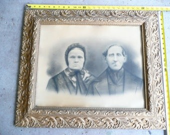 "Vintage Photo of a Couple from the 20's-30's  in Vintage Gold Frame  27"" x 23"""