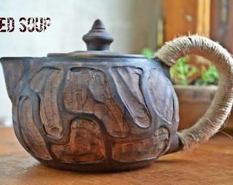 Ceramic teapot, ceramic tea pot, clay teapot, stoneware teapot