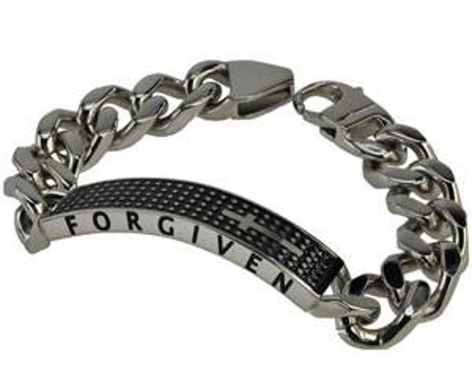 "Shield Cross Bracelet ""Forgiven"""
