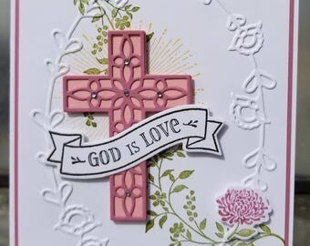 Handmade EASTER Card, STAMPIN' UP! Hold on to Hope, Cross,