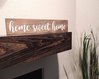 Home Sweet Home Sign - Custom Wooden Sign - Wall Decor - Home Decor - Hand Painted