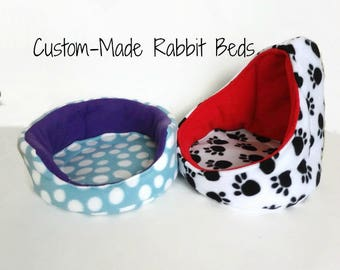 Create Your Own Rabbit Bed - Large Cuddle Cup or Hooded Bed