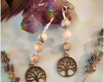 Mookaite Tree of Life Earrings