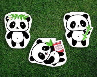 Magnetic Bookmark Set | Panda Bears Bamboo Shoots Leaves Magnet Cute Book Bookmarks Pack of 3, Magnetic Cute Quirky Kawaii