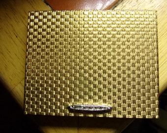 Vintage Gold Toned Tin Revlon Compact