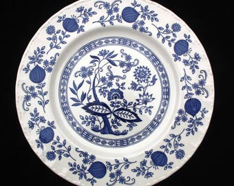 Wedgwood Blue Heritage  10 inch Dinner Plate | Excellent