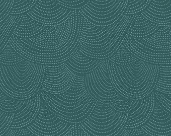 Dear Stella Chroma Basics - Scallop Dot in Pine Green - by Rae Ritchie for Dear Stella - SRR512