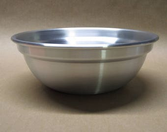 Bowl Rounded Aluminum Seamless Hand Spun, Small Size, Handmade, New, Metal Spinning,