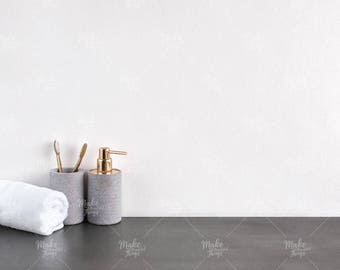 Blank wall styled stock photography / Bathroom / Instant download / #8590
