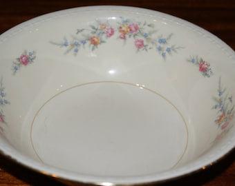 Homer Laughlin Eggshell Nautilus Ferndale  8.5 inch  round serving bowl